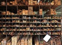 Wood warehouse Stock Images