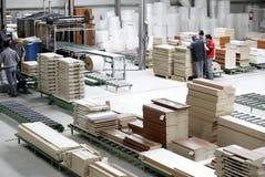 Wood warehouse interior Royalty Free Stock Photos