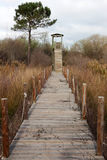 Wood Watch Tower Royalty Free Stock Images