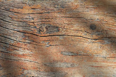 Wood weathered plank brown texture background. Stock Image
