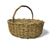 Wood weave basket Stock Image