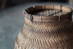 Wood weaving rice steamer In the side view Stock Images