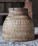 Wood weaving rice steamer vintage Royalty Free Stock Photos