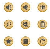 Wood web buttons Royalty Free Stock Photo
