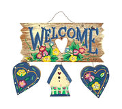 Wood Welcome Sign Stock Images