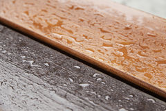 Wood wet with water Royalty Free Stock Images