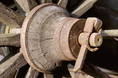 Wood wheel Stock Photo