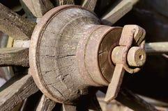 Wood wheel Stock Photo