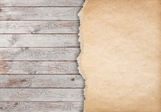 Wood white background with paper 3d illustration Royalty Free Stock Image