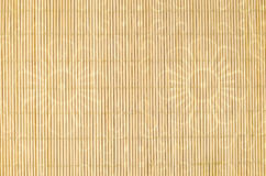 Wood, wicker background with flower motif Royalty Free Stock Photography