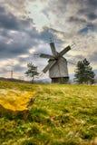 Wood windmill Stock Image