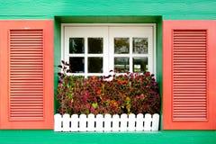 Wood window Stock Image