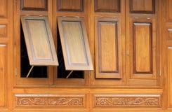 Wood window Stock Photo