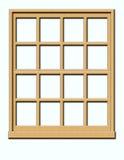 Wood Window. White Window isolated on a Grey Background stock illustration