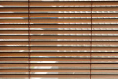 Wood window blinds Stock Image