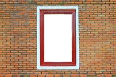 Wood Window on Brick Wall Stock Photos