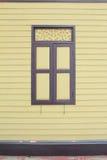 Wood Window. Cream wood window in Thailand Royalty Free Stock Image