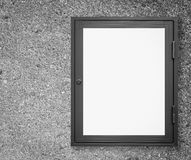 Wood window display frame Royalty Free Stock Photography
