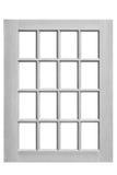 Wood window frame isolated on white royalty free stock image