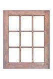 Wood window frame stock photography