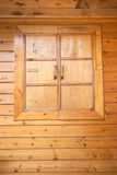 Wood window. On the home wall stock images