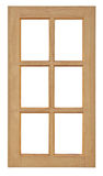 Wood window isolated for home construction. Royalty Free Stock Photography