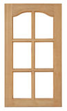 Wood window isolated for home construction. stock image