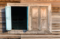Wood window. Of the old house Royalty Free Stock Image