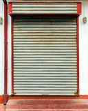 Wood window with rolling shutters system. Old wood window with rolling shutters system royalty free stock image