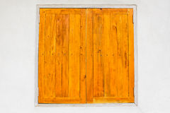 Wood window surface parquet on wall texture background Stock Photography