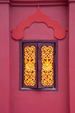 The wood window in the temple Thai style Royalty Free Stock Photo