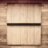 Wood window texture. Closed old wood window texture background Royalty Free Stock Photo