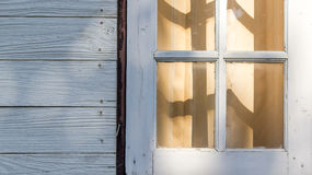 Wood window texture Royalty Free Stock Photo