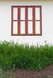 Wood window wall Stock Photography
