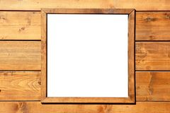 Wood window wall with copyspace Stock Photography
