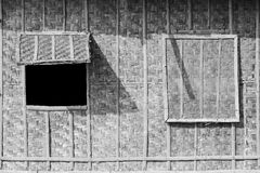Wood window wall Stock Images