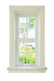 Wood window white frame Stock Photography
