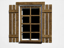 Wood window Royalty Free Stock Photography