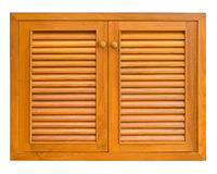 Wood windows of cabinet Stock Photography
