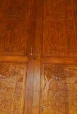 Wood windows of cabinet Stock Photo