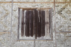 Wood Windows and handmade wood basketry weave Royalty Free Stock Photography
