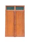 Wood windows isolate. On white background Stock Photography