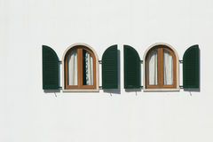Wood windows and shutters Royalty Free Stock Image