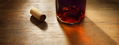 Wood Wine Background Stock Photo