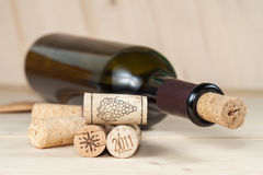 Wood wine cork close up Stock Photography
