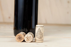 Wood wine cork close up Royalty Free Stock Photo