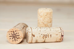 Wood wine cork close up Royalty Free Stock Image