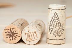 Wood wine cork close up Stock Photo