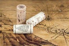 Wood wine cork close up royalty free stock photos