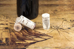 Wood wine cork close up Stock Image